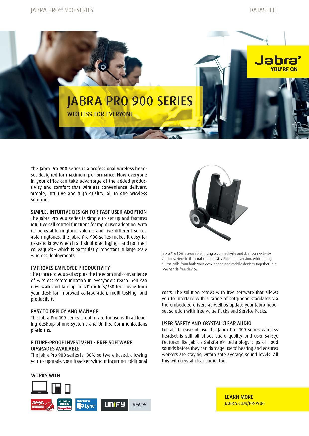 Jabra Pro 920 Telesystems Inc